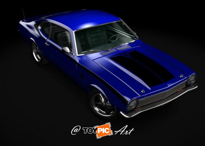 Ford Maverick Customizado - Pintura e faixas adesivas